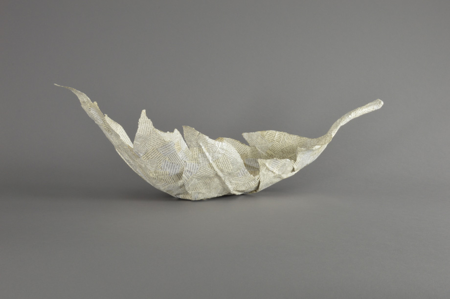 In Quot Boat Quot Exhibit Floating Leaf Sculpture Holly A Senn